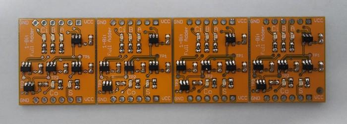 Однобитный полный сумматор на необычных микросхемах - 4