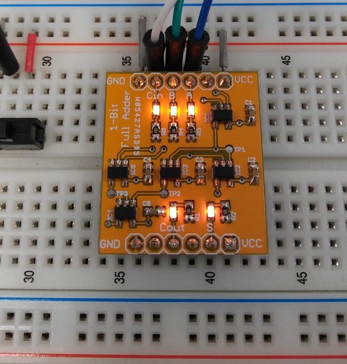 Однобитный полный сумматор на необычных микросхемах - 1