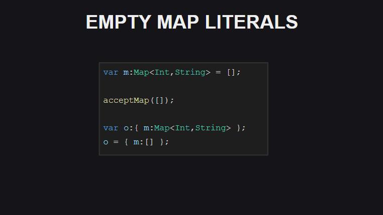 Упрощенный синтаксис для объявления пустого словаря