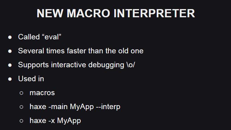 Новый интерпретатор макросов