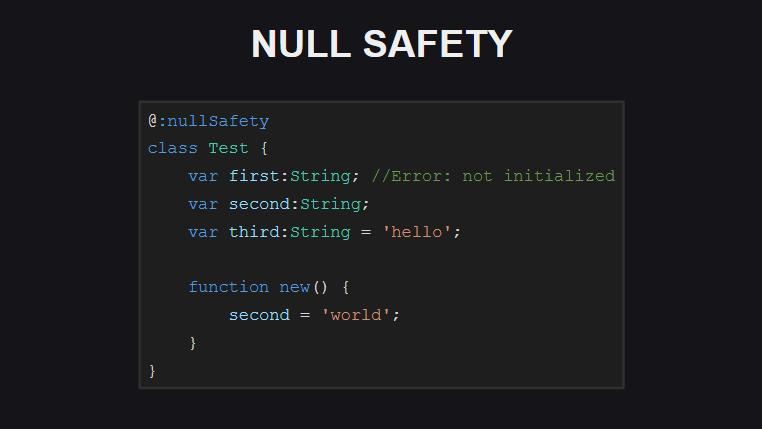 Проверка инициализации полей при выполнении проверок на null-безопасность