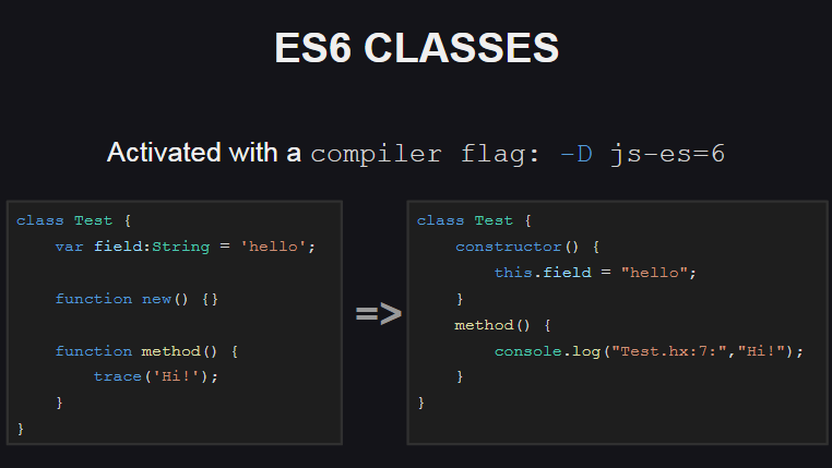 Генерация ES6 классов для JavaScript