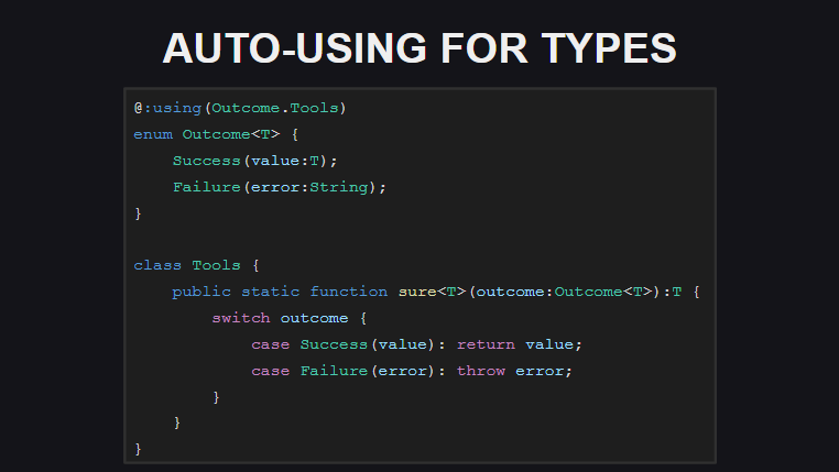 Автоматические расширения для типов
