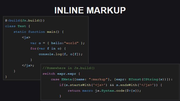 Использование встроенной разметки в качестве замены untyped-кода