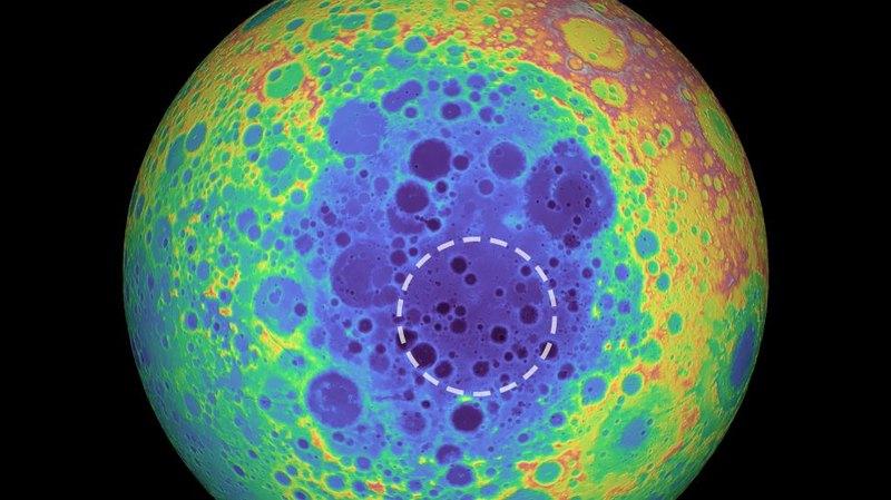 Аномалию на южном полюсе Луны связали с остатками древнего астероида