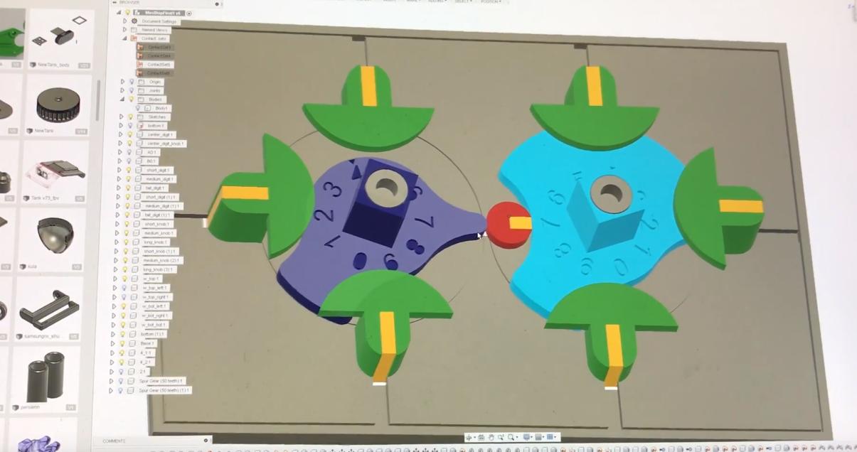 Большой механический дисплей с кулачковым механизмом в качестве дешифратора - 2