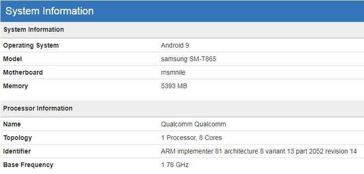 Флагманский планшет Samsung Galaxy Tab S5 показался в бенчмарке