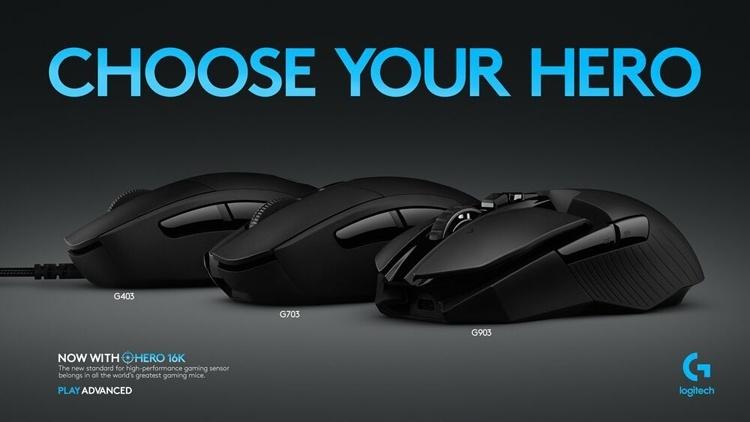 Трио игровых мышей Logitech G с сенсором Hero 16K