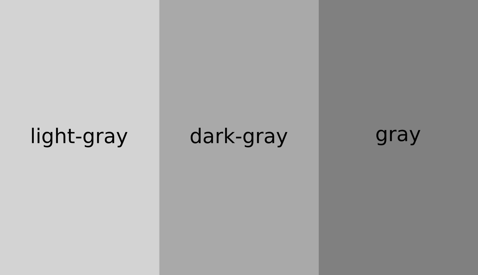 Из-за чего тёмно-серый светлее чем серый в CSS - 2