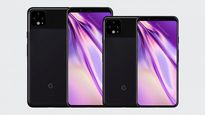 Качественные рендеры Google Pixel 4 и Pixel 4 XL от надежного инсайдера