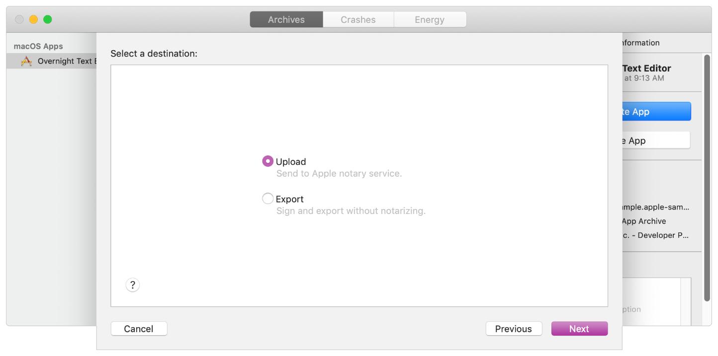Процедура нотаризации Electron приложения для macOS 10.14.5 - 4