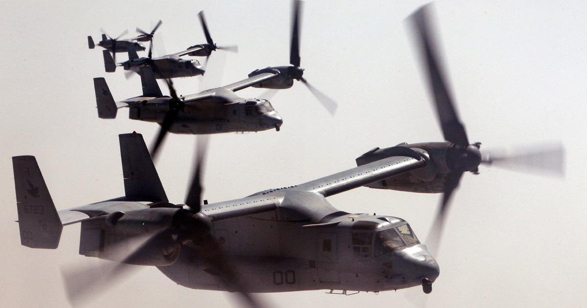 Конвертопланы V-22 вывели на «слоновью прогулку»
