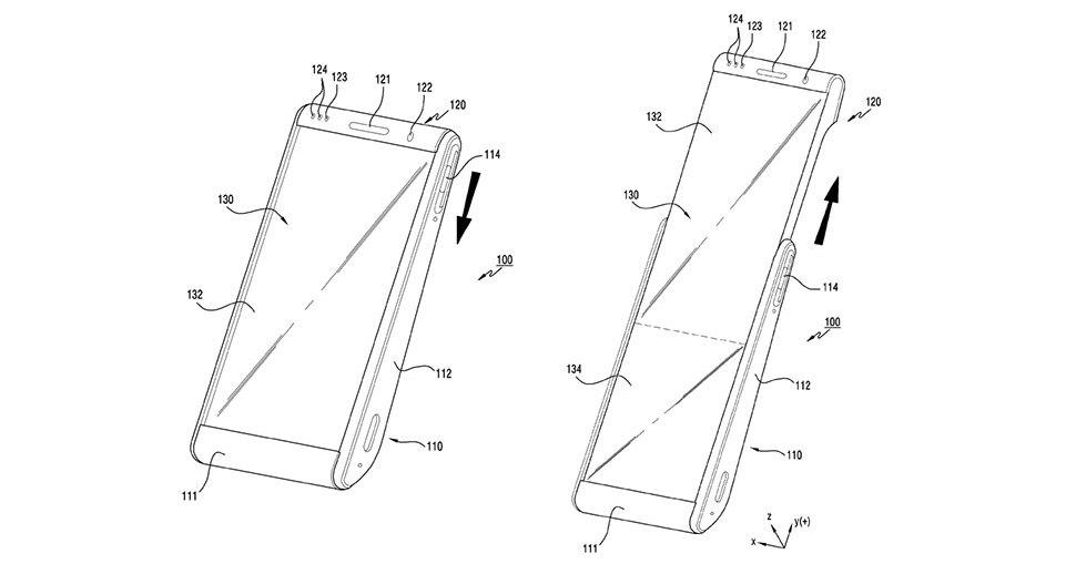 Смартфон со сворачивающимся дисплеем: патент Samsung