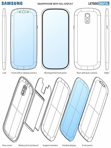 Возможно, это Galaxy S12. Патент Samsung демонстрирует смартфон с изогнутым 3D-экраном