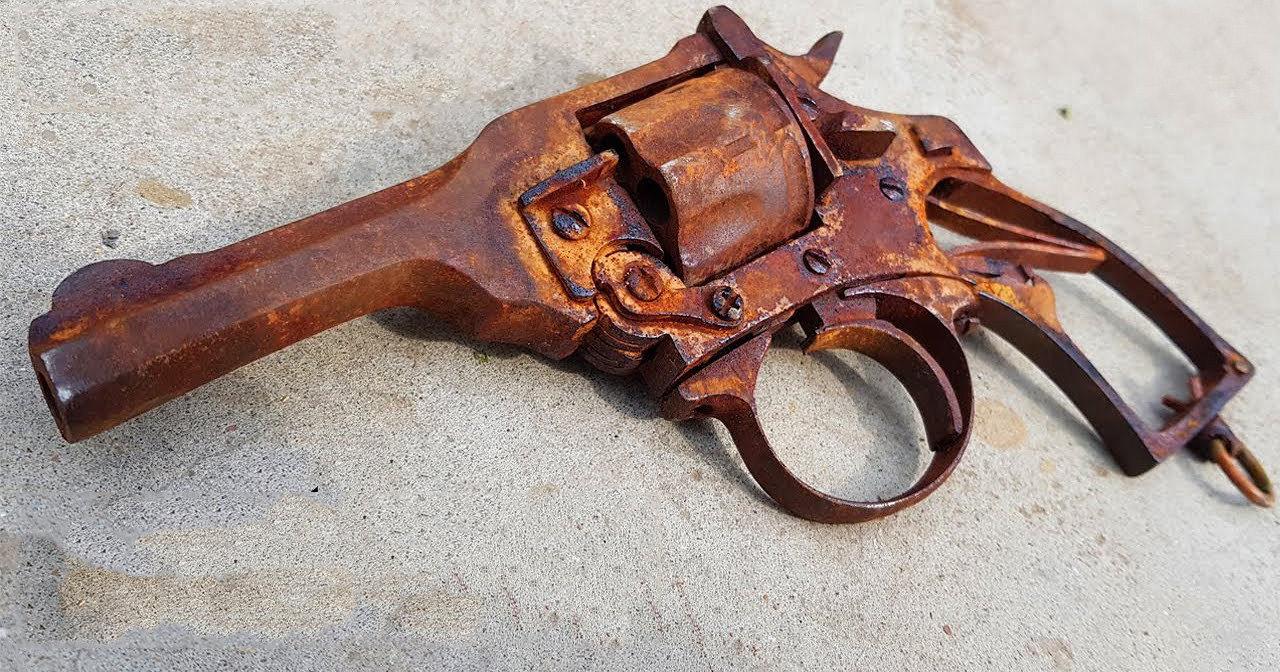 Как «оживить» винтажный револьвер: от куска ржавчины до шедевра