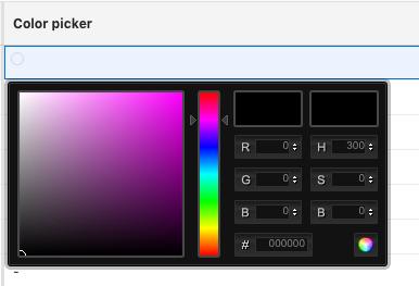 Color picker screenshot