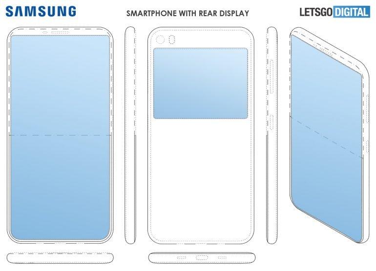 Samsung делает смартфон без фронтальной камеры, но с дополнительным экраном на задней панели