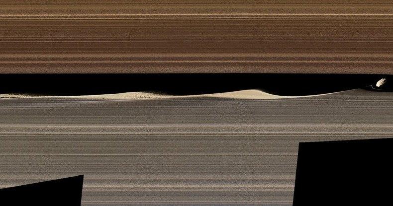Удивительная фотография колец Сатурна: взгляд изнутри