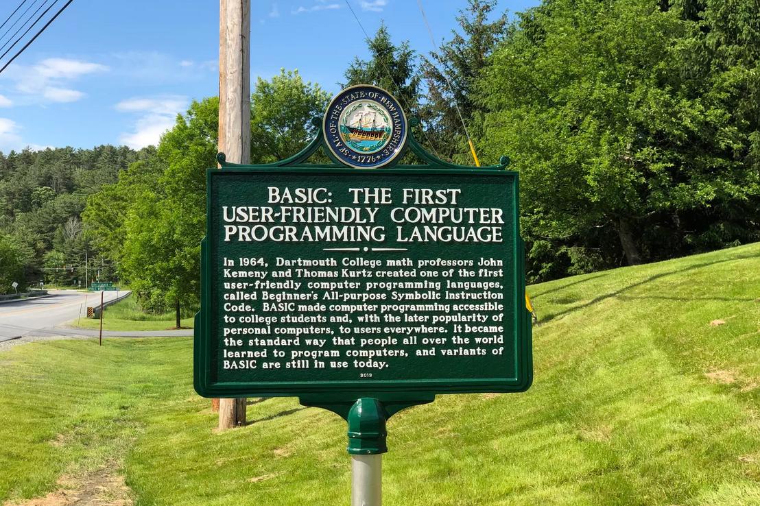 В Дартмуте появился памятник языку программирования BASIC - 1