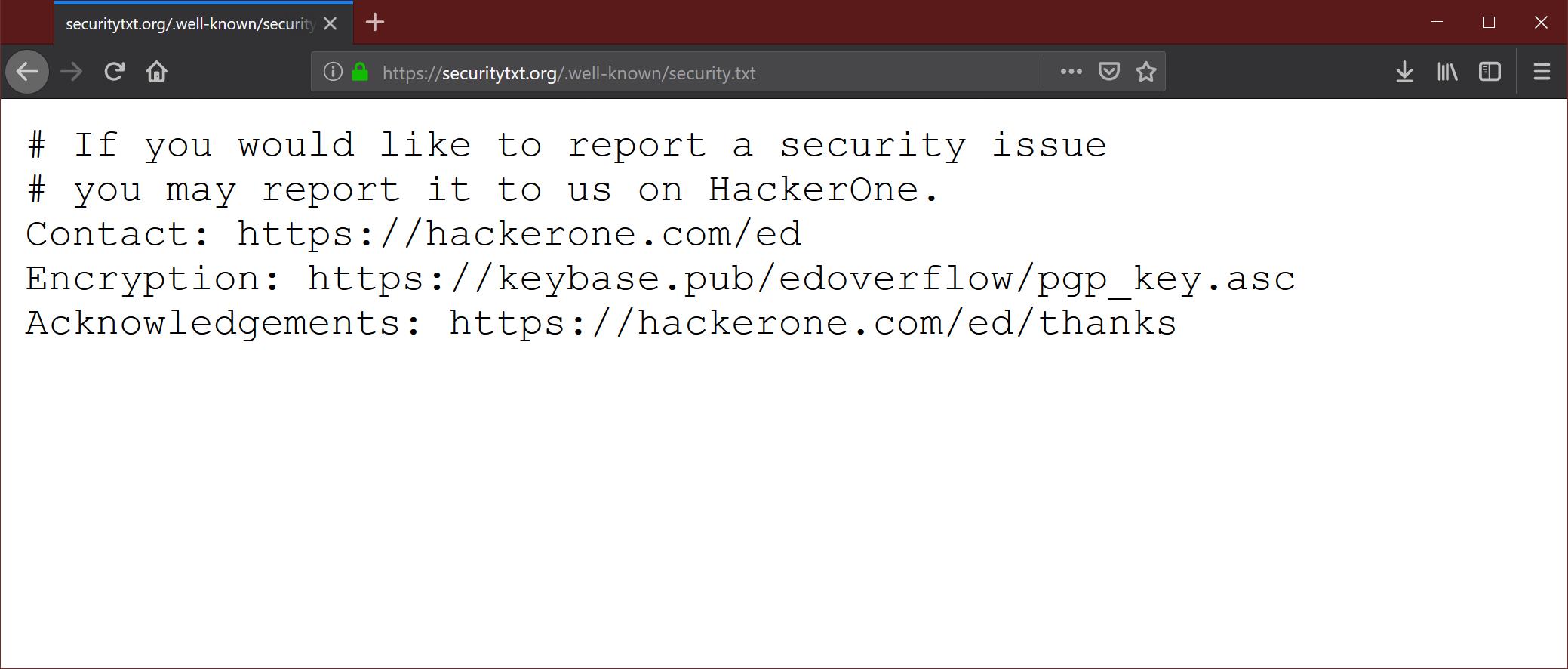 Интернет проект security.txt — знакомство с еще одним .well-known файлом - 1