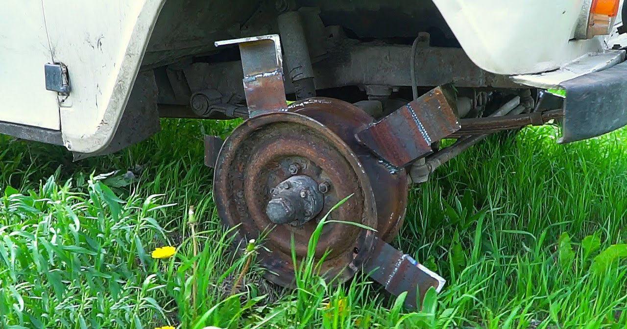 Культиватор из УАЗа: колеса с ножами