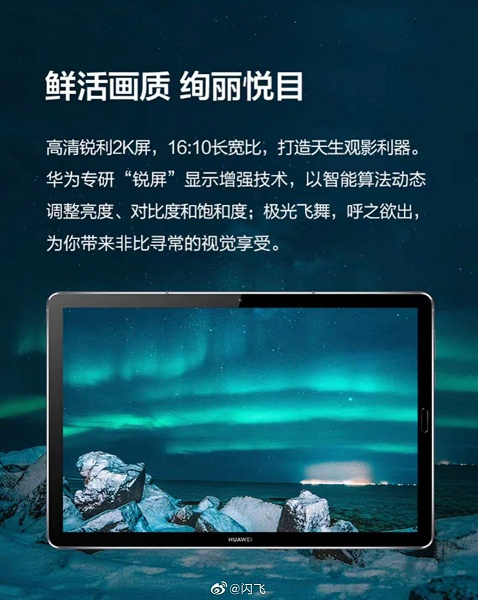 Официальные рендеры Huawei MediaPad M6 подтверждают возможности нового флагманского планшета