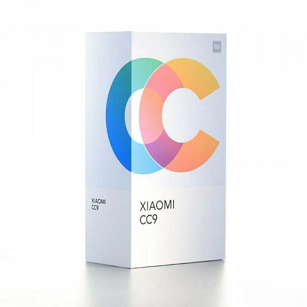 Изображения коробки смартфона Xiaomi CC9 демонстрирует необычное для Xiaomi оформление упаковки