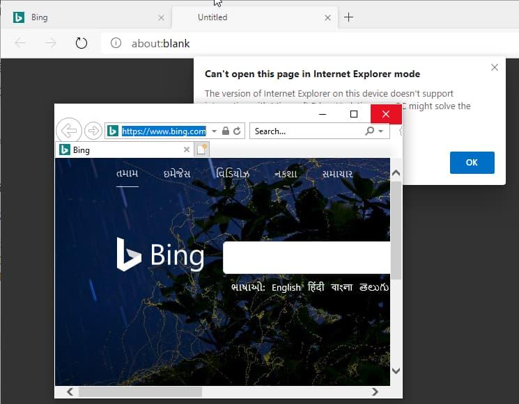 Не так, как было обещано. Браузер Microsoft Edge на базе Chromium научился открывать страницы в Internet Explorer