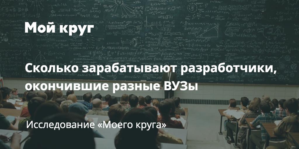 Сколько зарабатывают выпускники разных российских ВУЗов - 1