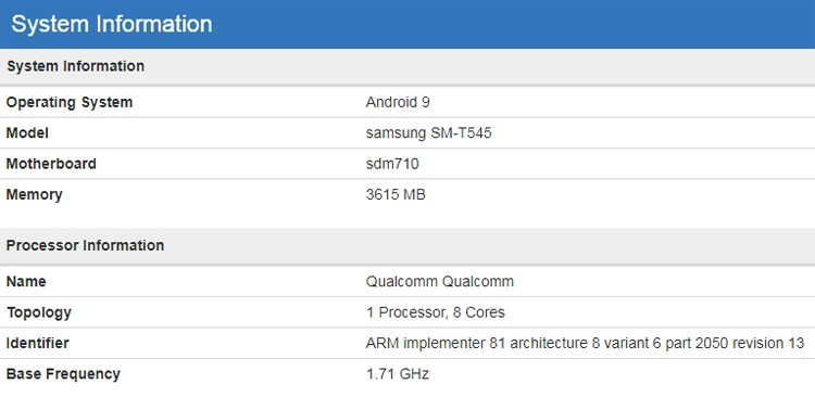 Samsung проектирует планшет Galaxy Tab на платформе Snapdragon 710