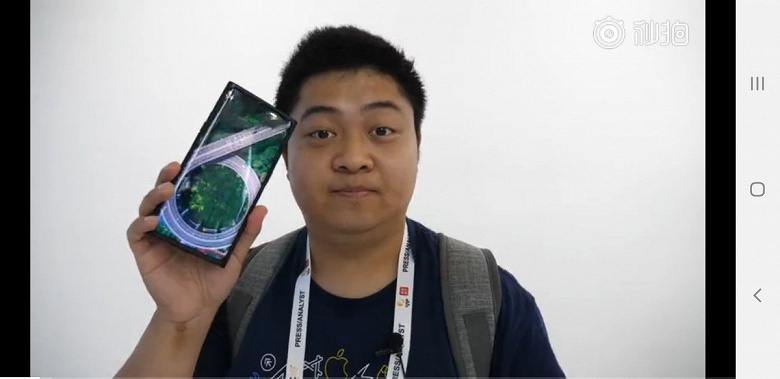 Фото и видео дня: первый в мире смартфон с подэкранной камерой