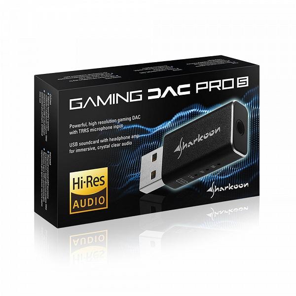Миниатюрная внешняя звуковая карта Sharkoon Gaming DAC Pro S характеризуется отношением сигнал/шум 100 дБ
