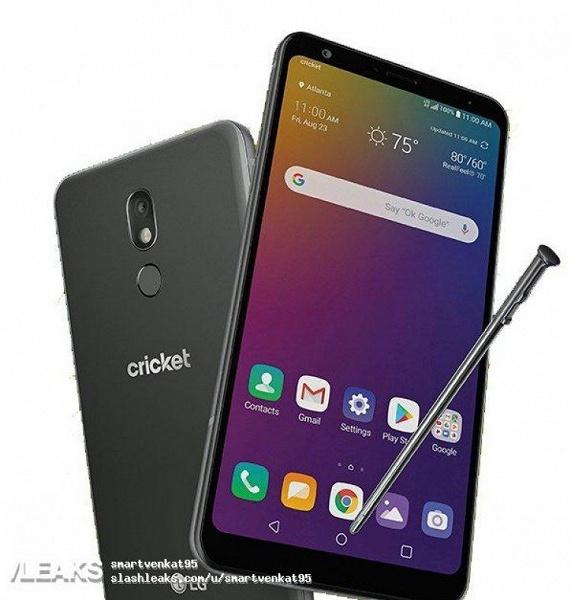 Смартфон LG Stylo 5 со стилусом показался на новом изображении
