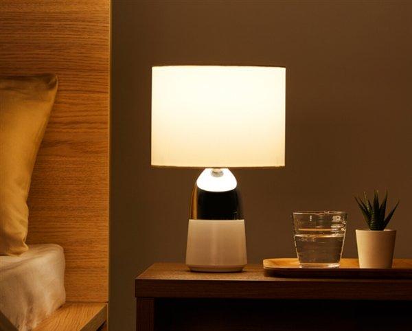 Весь корпус прикроватной лампы Xiaomi Two-Piece Bedside Table Lamp является сенсорным