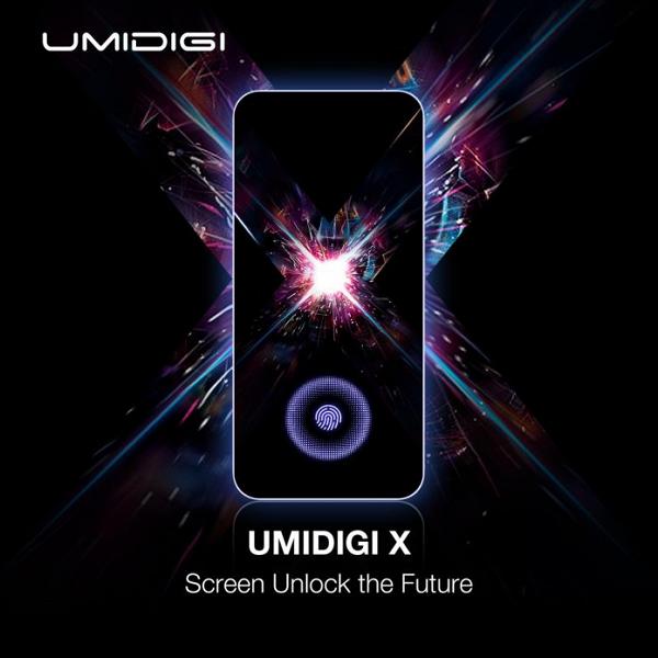 Umidigi X станет самым дешевым смартфоном с подэкранным дактилоскопическим датчиком