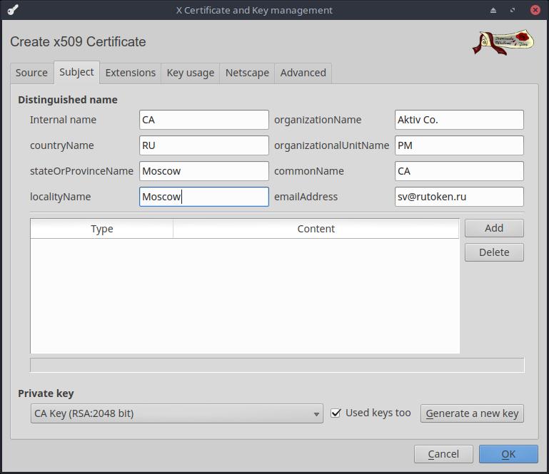 Двухфакторная аутентификация на сайте с использованием USB-токена. Теперь и для Linux - 3