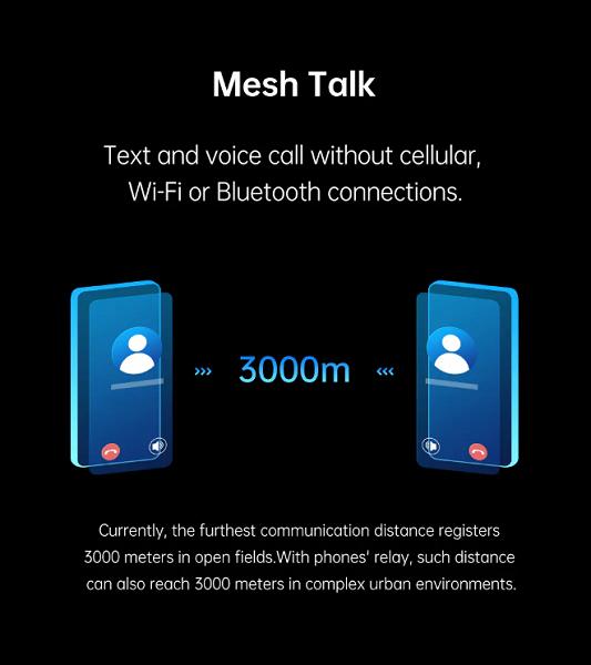 Звонки и обмен сообщениями без подключения к сотовой сети, Bluetooth или Wi-Fi. Представлена технология Oppo MeshTalk