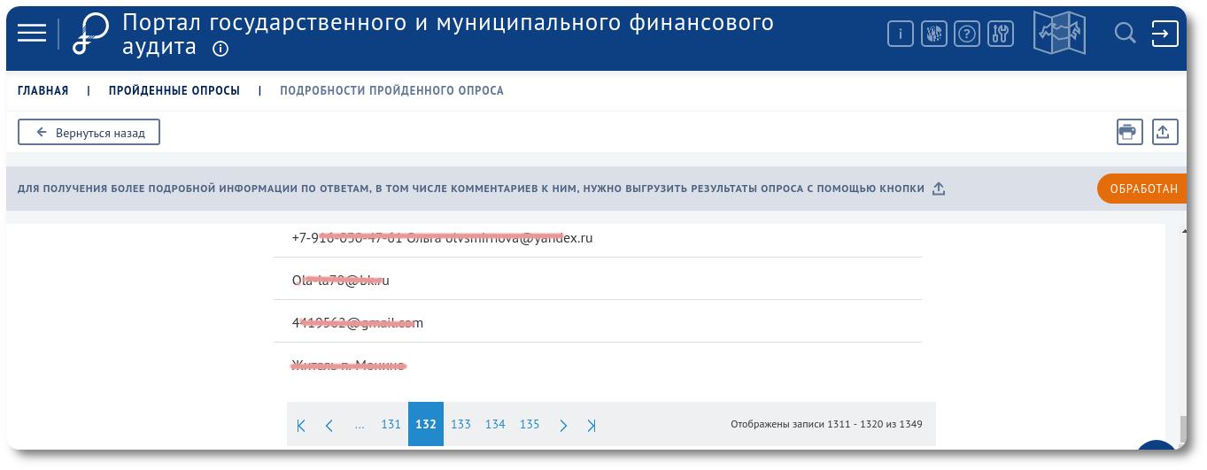 Портал государственного и финансового аудита разбрасывается персональными данными & свалка востока Подмосковья - 2