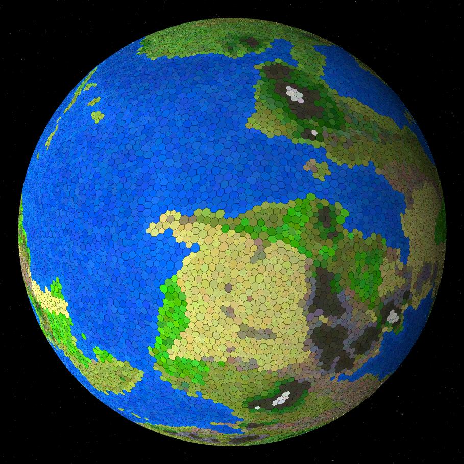 Процедурная генерация планет - 1
