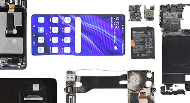 Вскрытие дня: во флагманском Huawei P30 Pro подсчитали количество компонентов из США