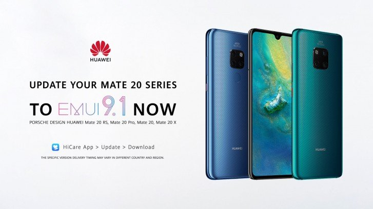 Huawei Mate 20, Mate 20 Pro, Mate 20 X и Mate 20 RS Porsche Design получили обновление до EMUI 9.1