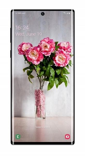 Новые изображения Samsung Galaxy Note10+ демонстрируют красочные обои