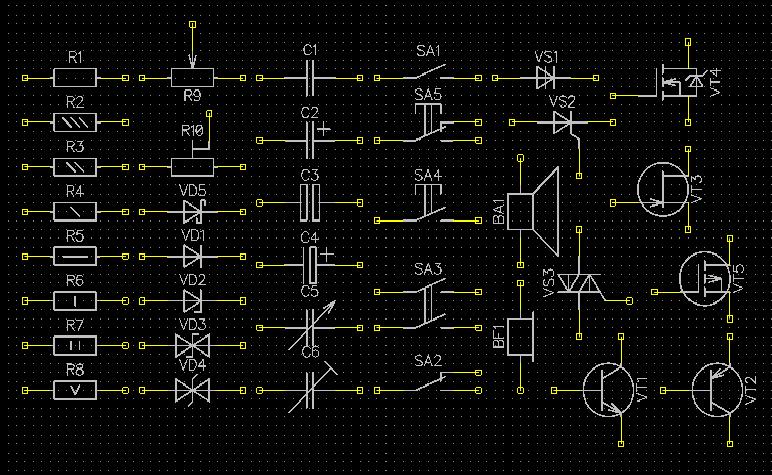 Библиотека Symbols GOST для DipTrace - 1