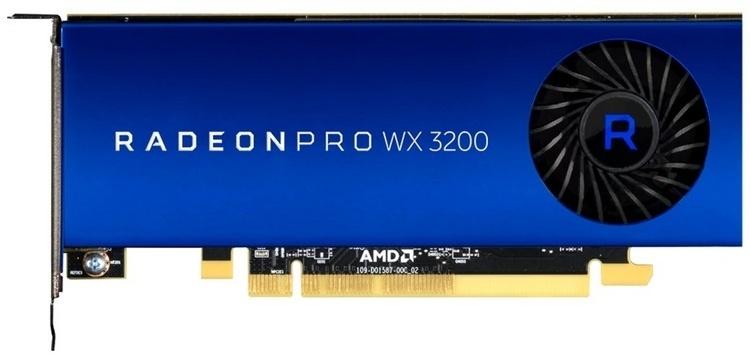 Представлен недорогой профессиональный ускоритель AMD Radeon Pro WX 3200 на базе Polaris