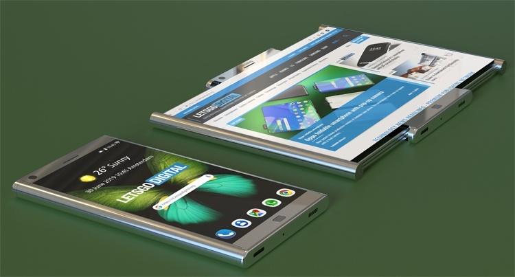 У Samsung может появиться смартфон с экраном двойного растягивания