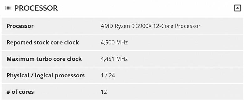 Процессор AMD Ryzen 9 3900X разогнан до 4,5 ГГц на всех 12 ядрах