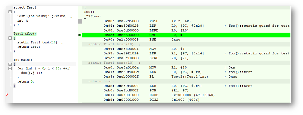 Синглтон размещающий объекты в ROM и статические переменные(С++ на примере микроконтроллера Cortex M4) - 2