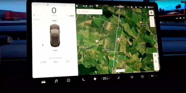 Владелец Tesla Model 3 установил рекорд, проехав за 24 часа почти 2800 км