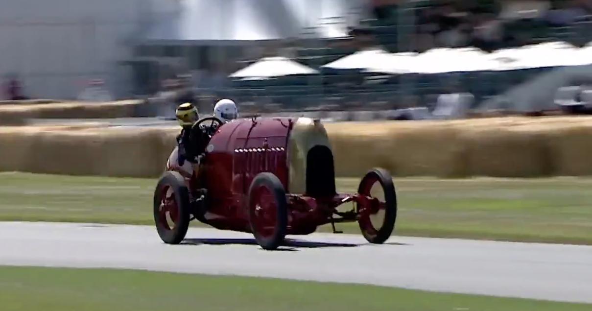 Fiat 1911 года с 28,4-литровым двигателем в Гудвуде: видео