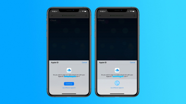 В бета-версиях macOS Catalina, iOS 13 и iPadOS 13 можно использовать Face ID либо Touch ID для входа в учётную запись iCloud посредством Safari